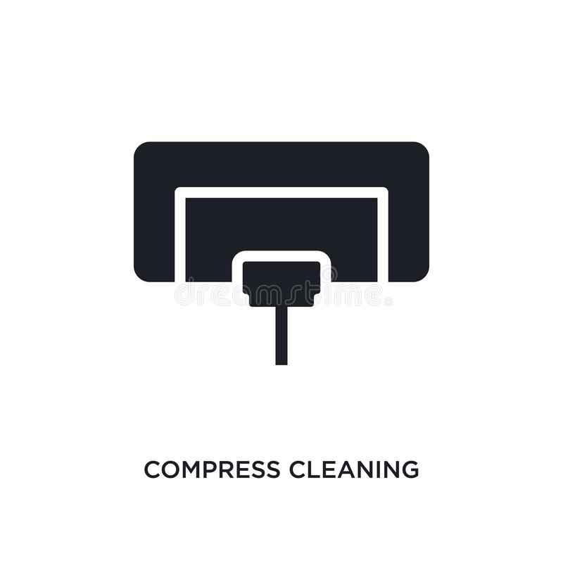 Compress cleaning isolated icon. simple element illustration from cleaning concept icons. compress cleaning editable logo sign. Symbol design on white stock illustration