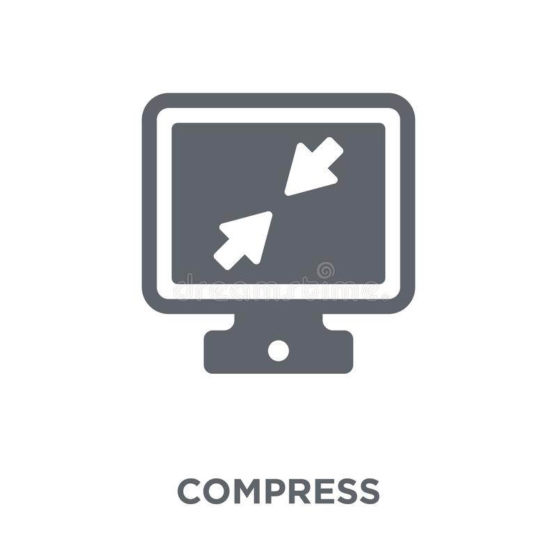 Compress icon from Webnavigation collection. Compress icon. Compress design concept from Webnavigation collection. Simple element vector illustration on white royalty free illustration