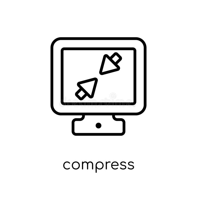 Compress icon from Webnavigation collection. Compress icon. Trendy modern flat linear vector compress icon on white background from thin line Webnavigation vector illustration