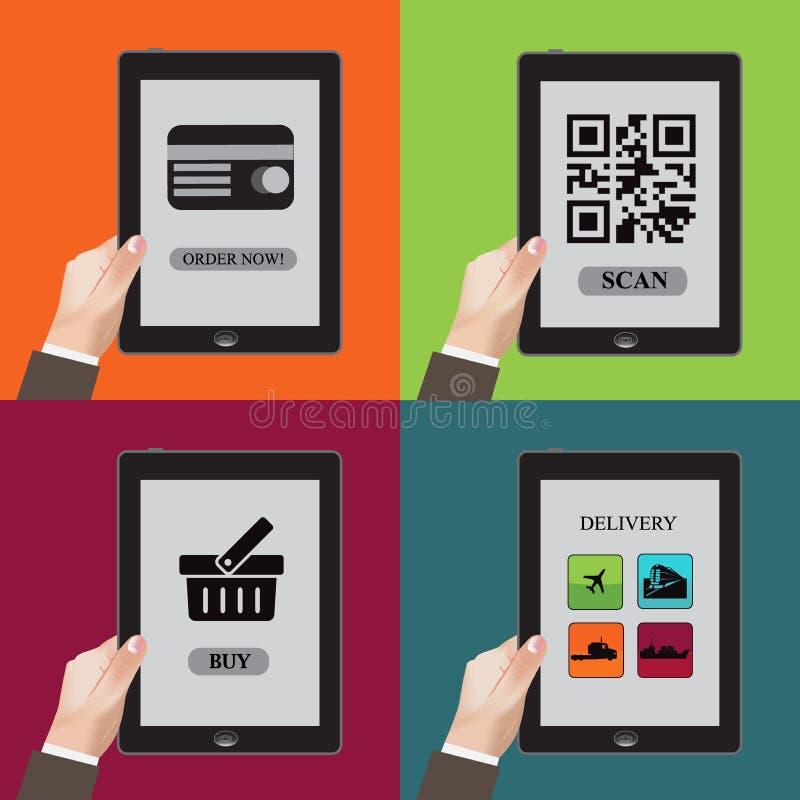 Compressa, affare, comunicazione, uso, clipart illustrazione vettoriale