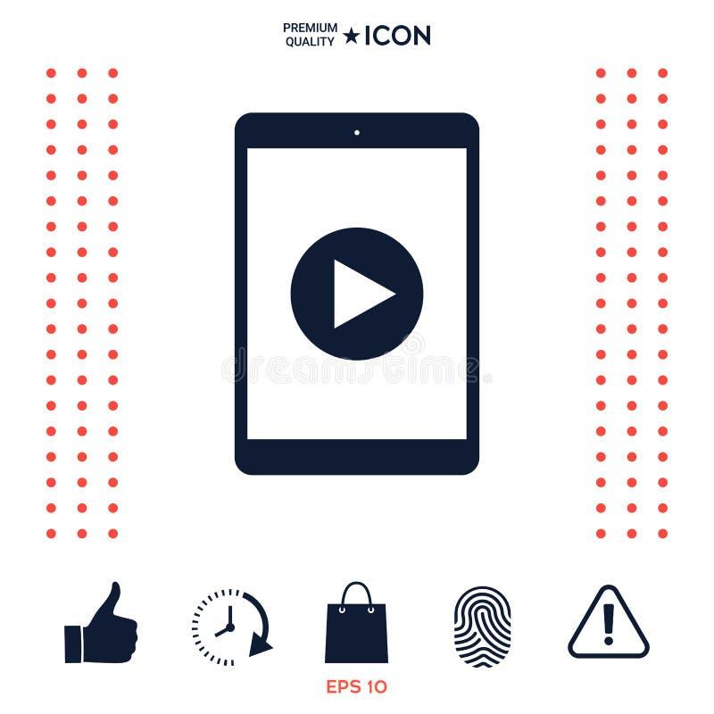 Download Compressa Con L'icona Del Tasto Di Riproduzione Illustrazione Vettoriale - Illustrazione di audio, information: 117977241