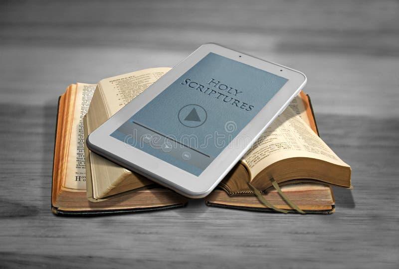 Compressa della bibbia di Digital fotografia stock libera da diritti
