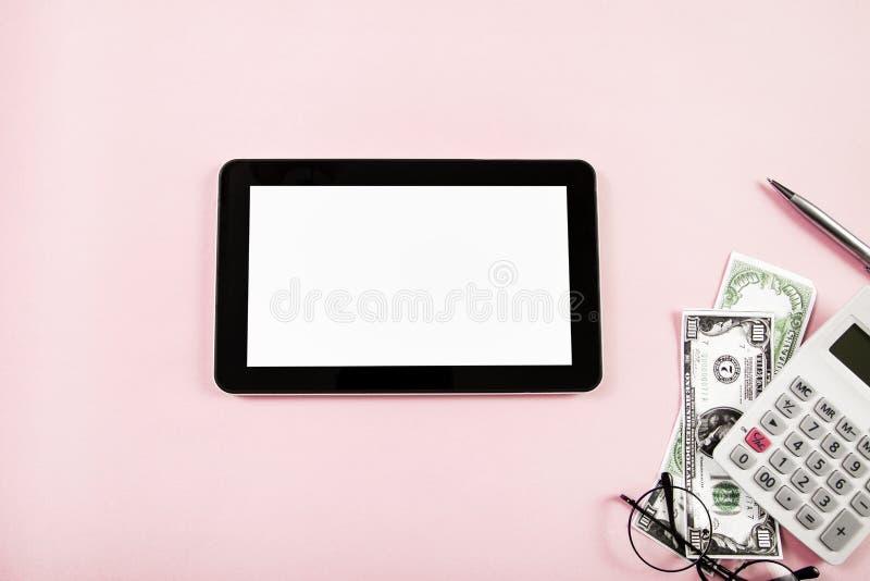Compressa di Digital con il concetto di pagamento fotografia stock