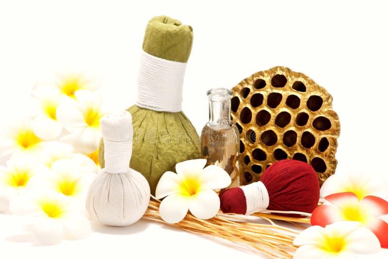 Compresse di erbe tailandesi di massaggio fotografia stock