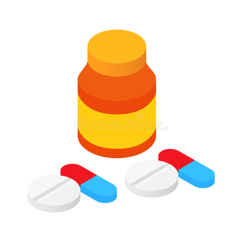 Compresse e pillole della Banca illustrazione vettoriale