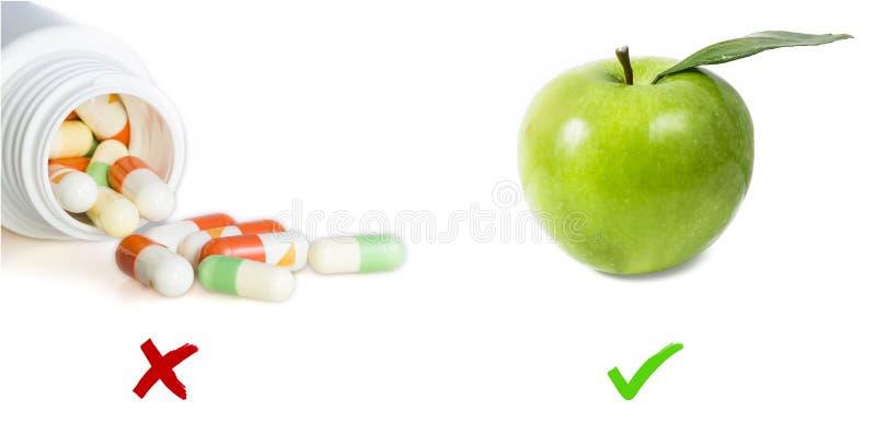 Compresse ed immagine della mela immagini stock
