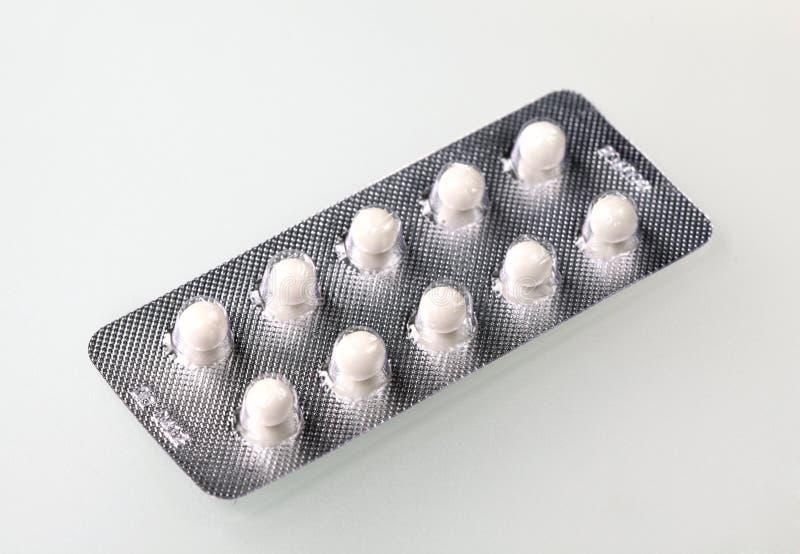 Compresse medicinali immagine stock