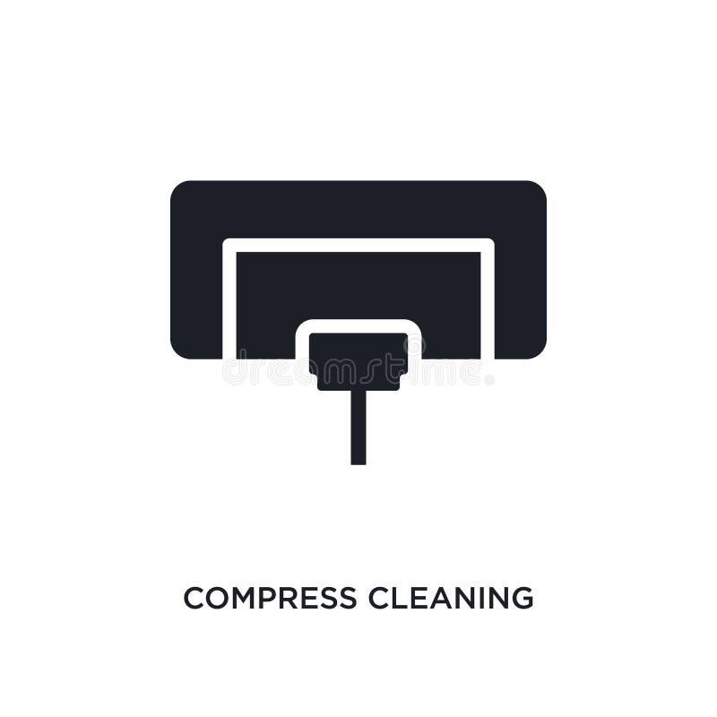compresse nettoyant l'icône d'isolement illustration simple d'élément des icônes de nettoyage de concept compresse nettoyant le s illustration stock