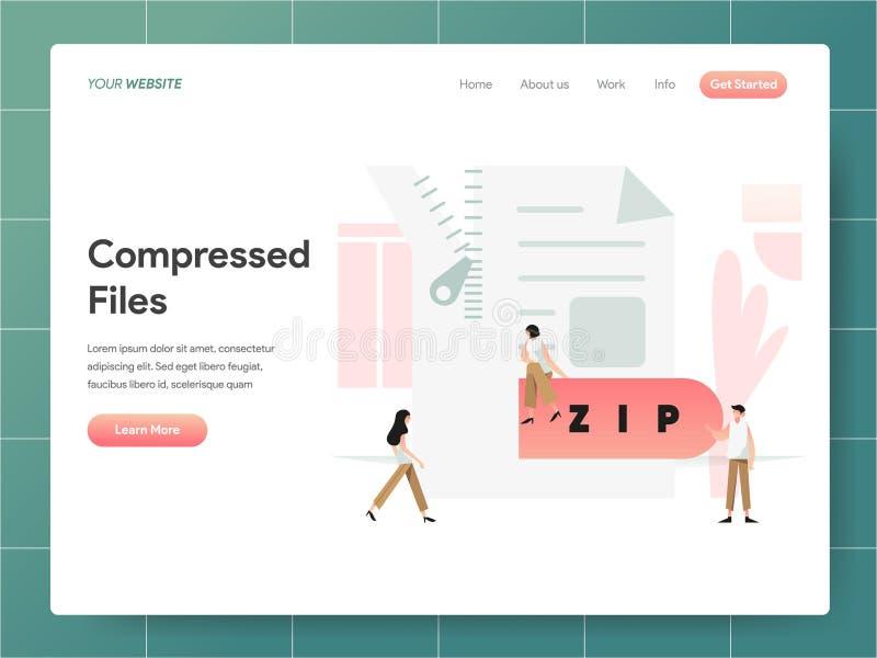 Compressed File Illustration Concept. Modern design concept of web page design for website and mobile website.Vector illustration. EPS 10 royalty free illustration