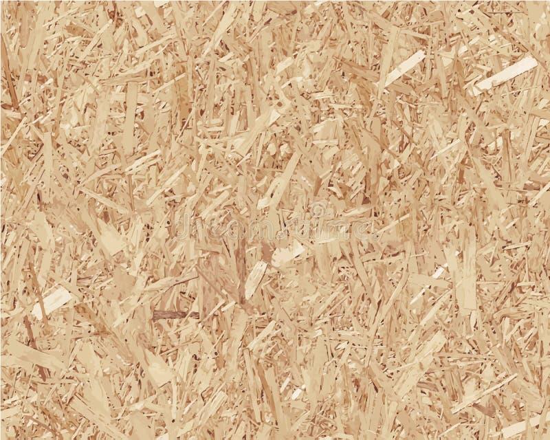 Compressed light brown chipboard. Vector wood. En texture stock illustration