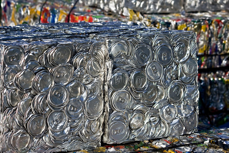 Download Compressed tin cans stock image. Image of conservation - 10527313