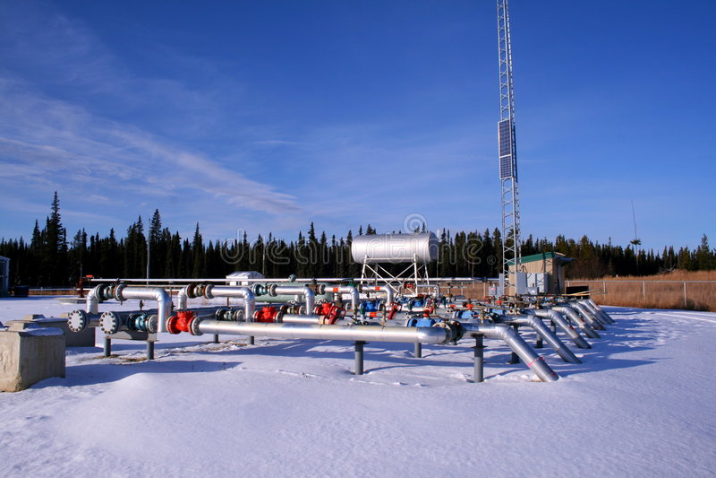 Compresseur à gaz naturel image stock