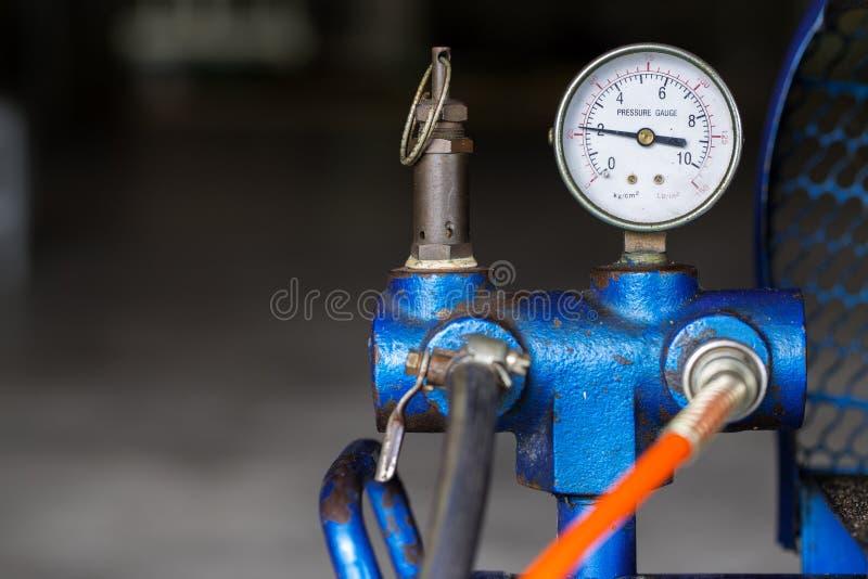 Compresseur d'air de piston utilisé dans l'usine photo libre de droits