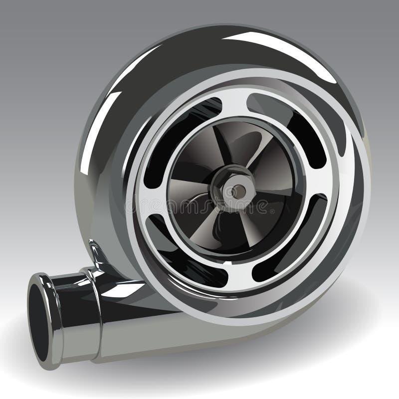 Compresseur de Turbo de vecteur illustration de vecteur