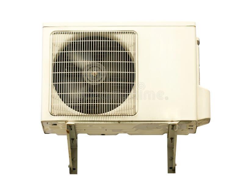 Compresseur métal-air blanc. image stock
