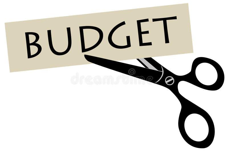 Compression budgétaire illustration de vecteur