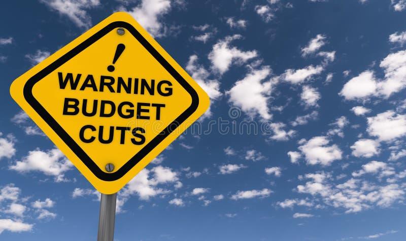 Compressions budgétaires d'avertissement illustration stock