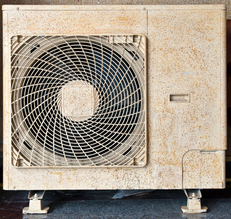Compressor air-condition. Grunge and old compressor air-condition royalty free stock photos