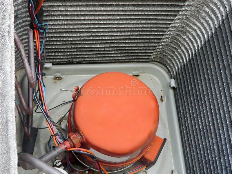 Compressor da bomba de calor do condicionador de ar imagem de stock