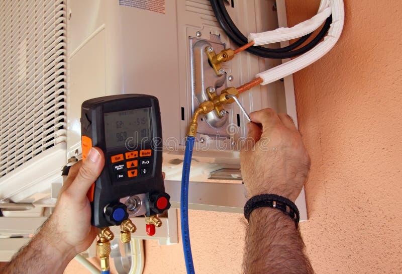 Compressor do condicionador de ar fotografia de stock royalty free