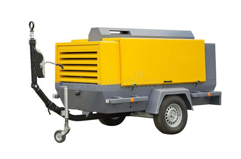 Compressor. On a white background royalty free stock photos