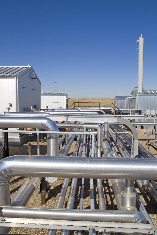 Compressore attivo del gas naturale fotografie stock libere da diritti