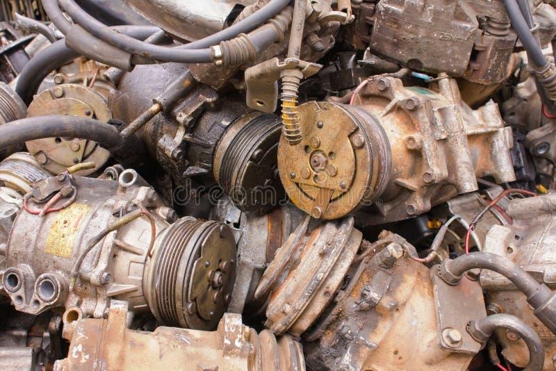 compressori di Aria-condizione per le automobili fotografia stock libera da diritti