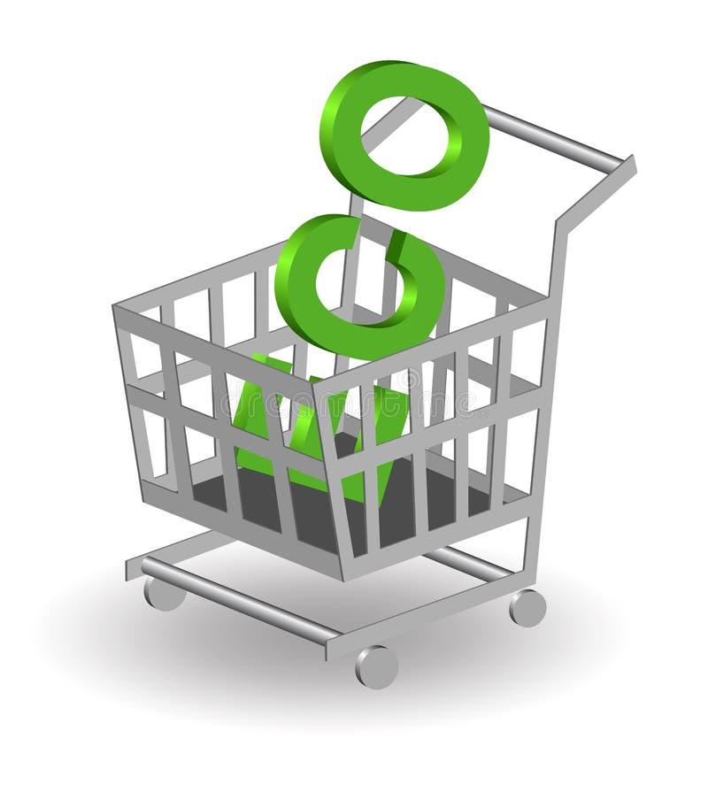 Compri ecologico illustrazione di stock