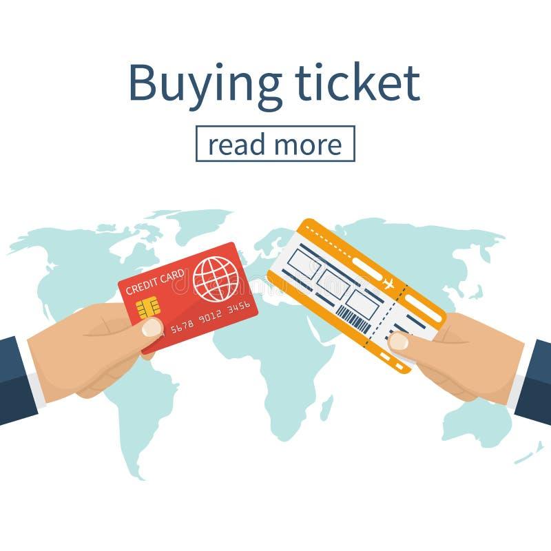 Compri il biglietto di linea aerea illustrazione di stock