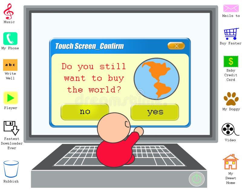 Compri il mondo? illustrazione vettoriale