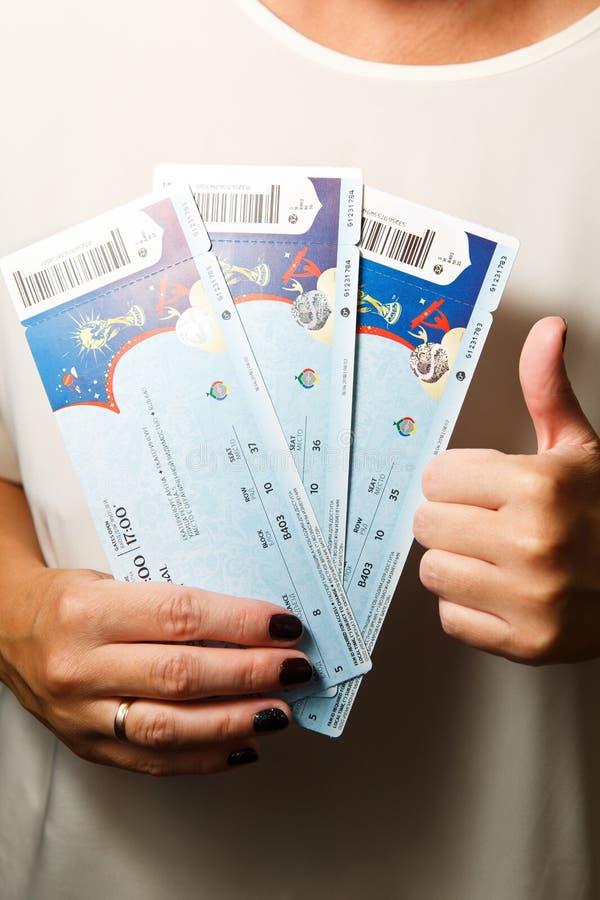 Compri il mondo 2018 della FIFA dei biglietti immagine stock libera da diritti
