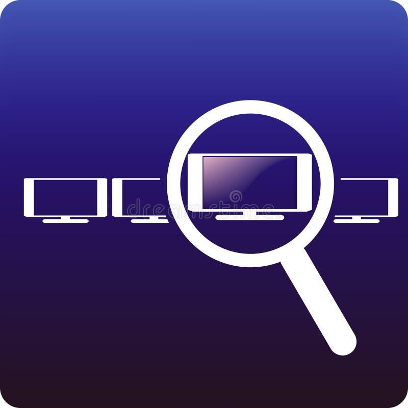 Compri la TV illustrazione vettoriale