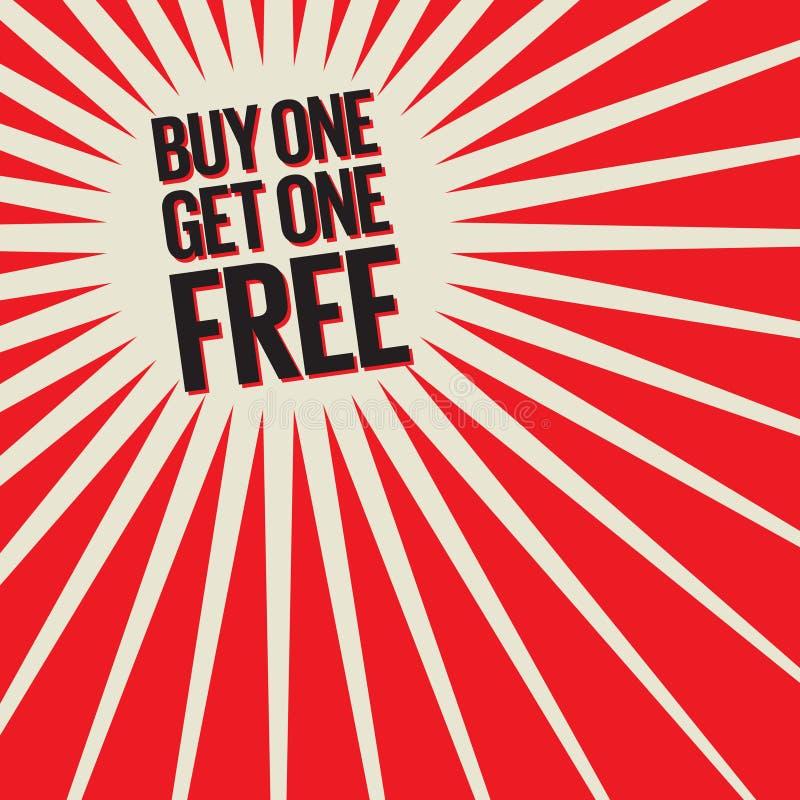 Compri uno, ottenga un manifesto libero illustrazione di stock