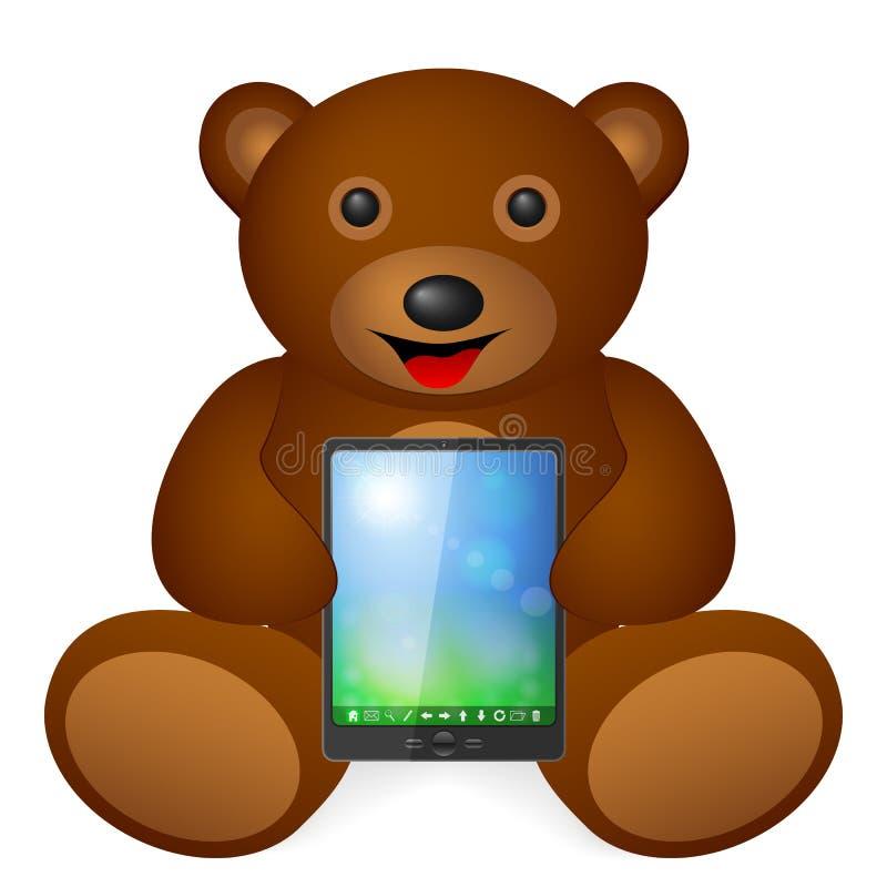 Comprimé d'ours de nounours illustration libre de droits