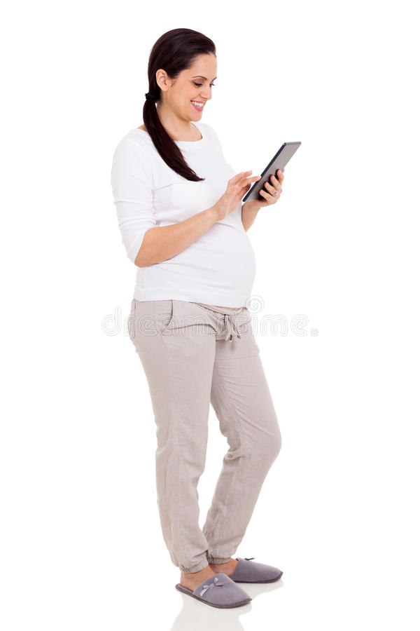 Comprimé de femme enceinte photos libres de droits