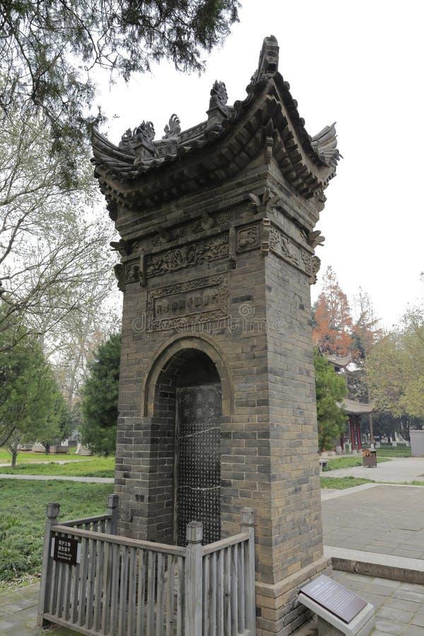 Comprimé en pierre antique du temple célèbre de jianfu, adobe RVB images stock