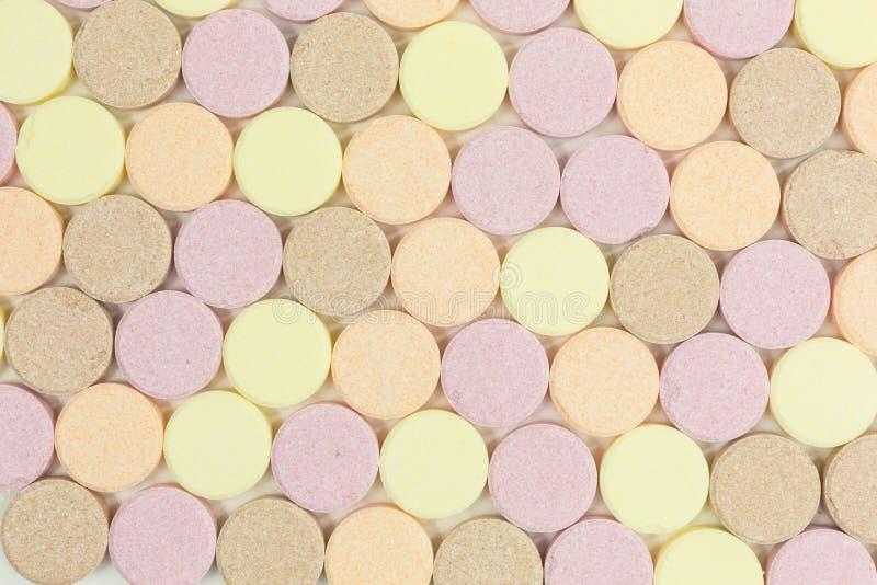 Comprimés doux de sucrerie de sucre images libres de droits