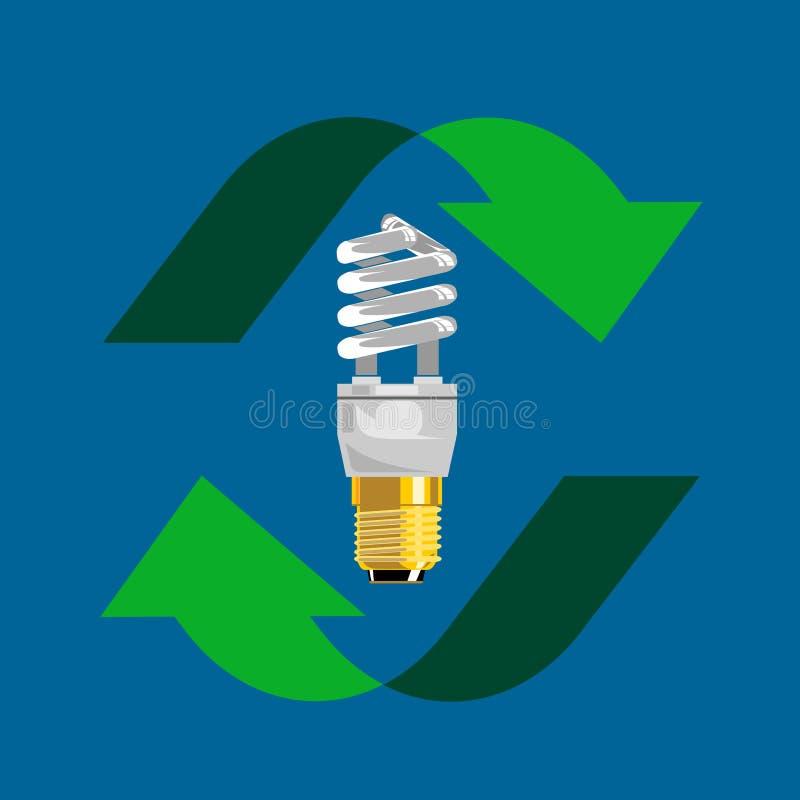 Comprima l'indicatore luminoso fluorescente illustrazione vettoriale