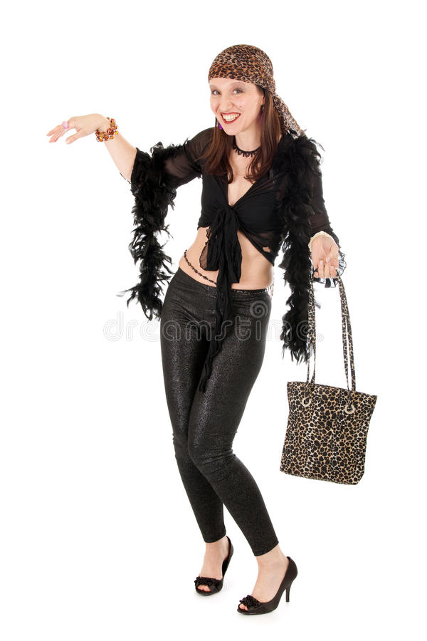 Download Comprimento Cheio Da Mulher Do Hippie Foto de Stock - Imagem de sexy, adulto: 12808924