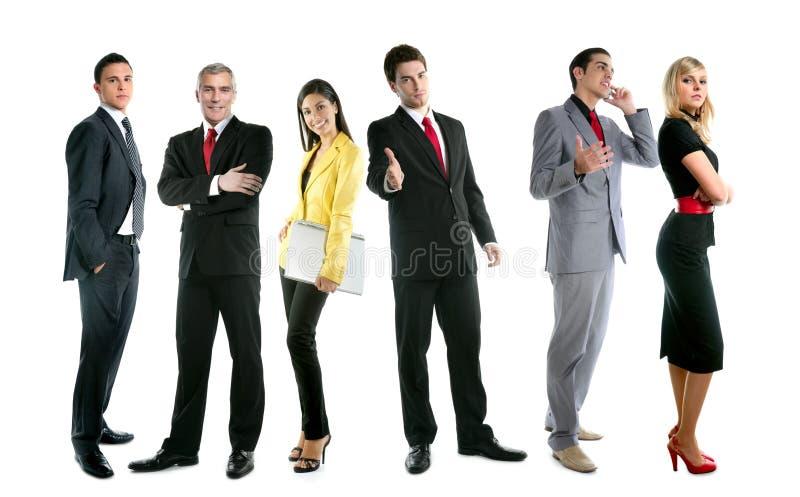Comprimento cheio da multidão do grupo dos povos da equipe do negócio fotografia de stock