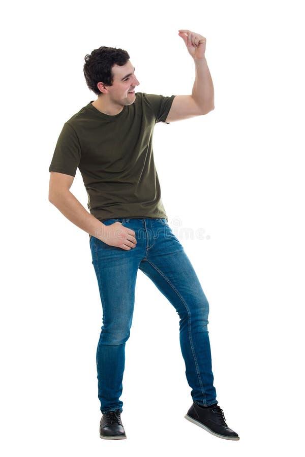 Comprimento completo da dança do homem imagens de stock