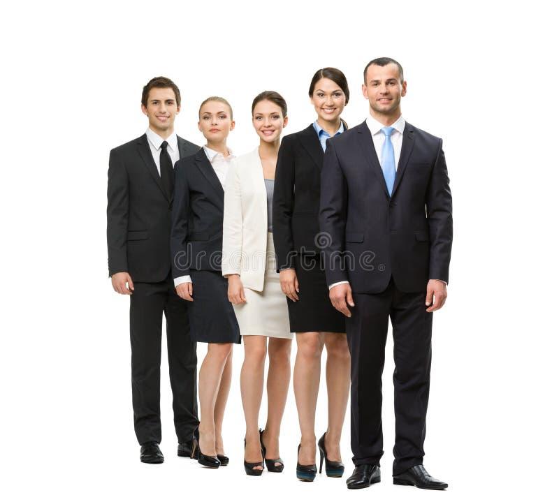 Comprimento completo do grupo de executivos imagens de stock royalty free