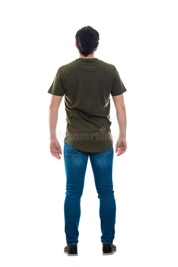 Comprimento completo masculino da vista traseira foto de stock royalty free