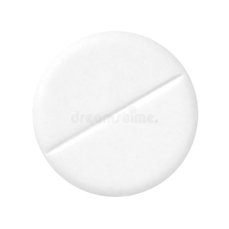 Comprimido branco. imagem de stock