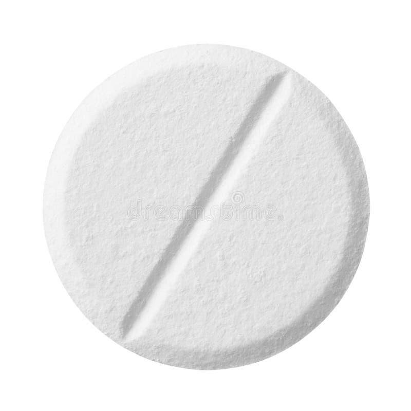Comprimido isolado no branco imagem de stock
