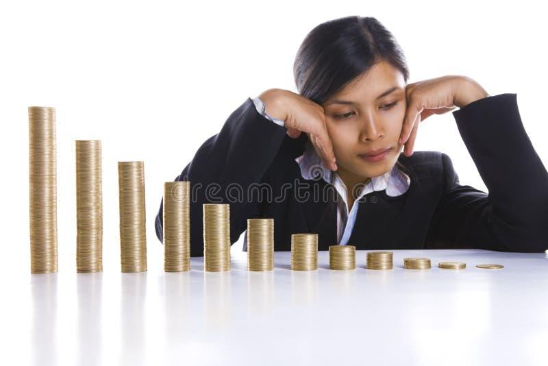 Comprimido sobre mês perdedor do avery do lucro imagens de stock royalty free