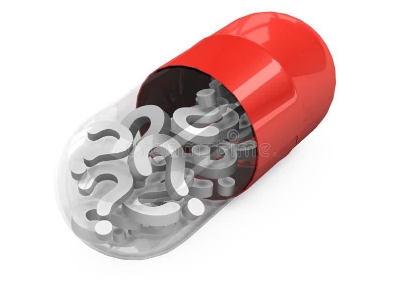 comprimidos 3d em um fundo branco ilustração do vetor