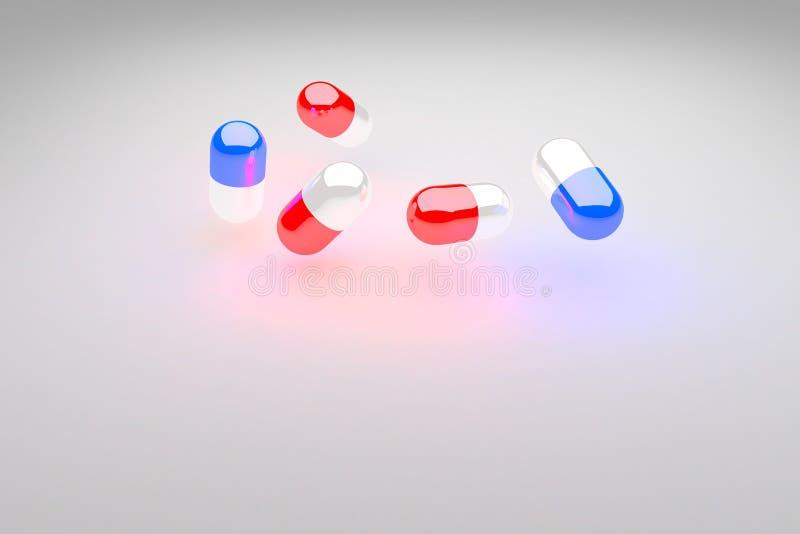 Comprimidos 3d ilustração do vetor