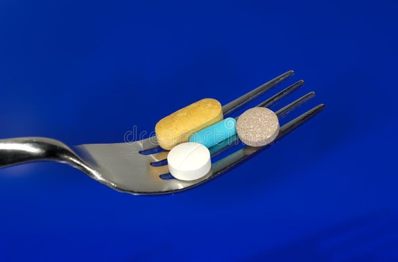 Comprimidos da dieta fotografia de stock royalty free