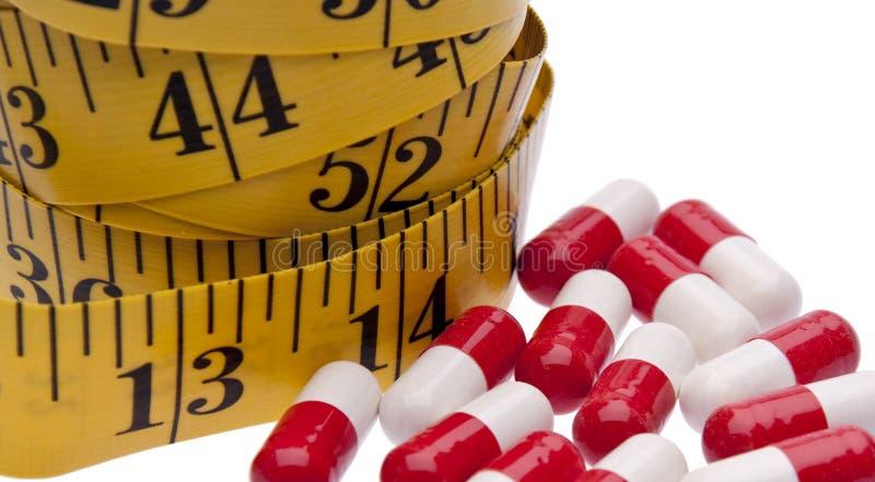 Comprimidos da dieta imagem de stock